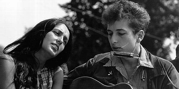 Joan Baez and Bob Dylan