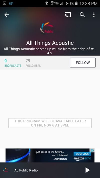 All Things Acoustic on TuneIn